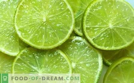 Lime - uporabne lastnosti, uporaba pri kuhanju. Recepti z apnom.