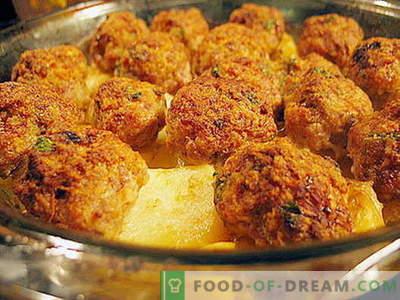 Mesne kroglice v pečici - dokazani recepti. Kako pravilno in okusno kuhane mesne kroglice v pečici.