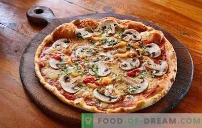 Pizza z mletim mesom in gobami: tradicionalni in izvirni recepti. Domača pizza z mletim mesom in gobami - najboljše možnosti