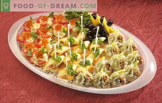 Birthday canapé - miza bo svetla! Različne vrste sendvičev za rojstne dneve in druge praznike