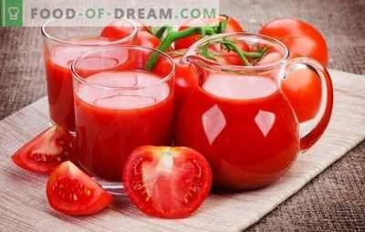 Приготвяне на доматен сок у дома: естествен, със зеленчуци, ябълки или подправки. Методи за приготвяне на доматен сок през зимата у дома