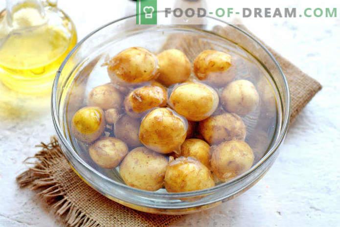 Novi krompir v pečici, recept v Selyanskem
