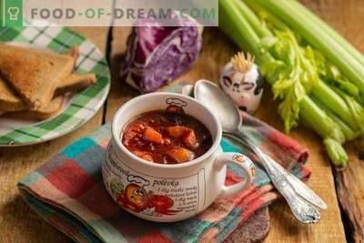 Sveika vegetariška raudonųjų kopūstų sriuba