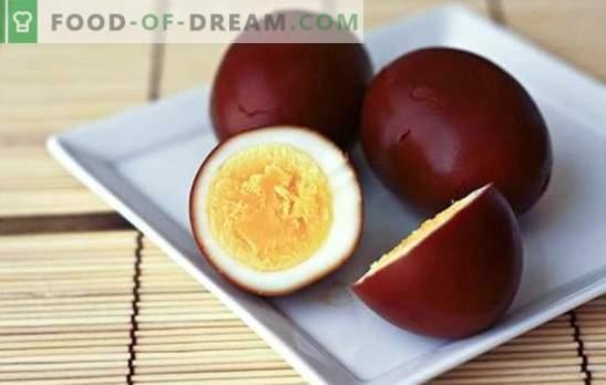 Dimljena jajca - izvirni prigrizek iz preprostega izdelka. Prekajena jajca doma in recepti z njimi
