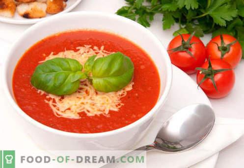 Kremna juha s paradižnikom - dokazani recepti. Kako pravilno in slastno kuhati juho pire iz paradižnika.