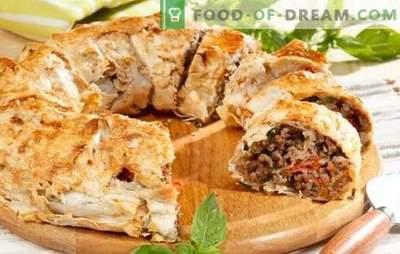 Pita z mletim mesom - enostavno! Recepti pite iz pite z mletim mesom in sirom, krompirjem, gobami, paradižnikom, bučkami