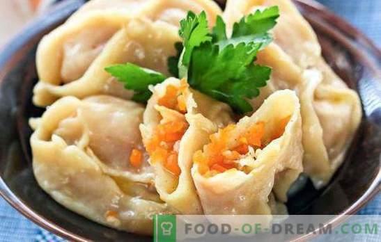 Manty z bučo in mesom - azijski okus. Več načinov kuhanja ene jedi - manti z bučo in mesom