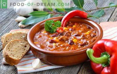 Mehiška juha - večerja bo izvirna! Recepti različnih mehiških juh: s koruzo, fižolom, mletim mesom, piščancem, rižem