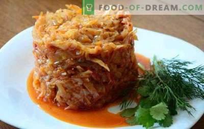 Zelje z mletim mesom, kuhano v ponvi, je sočna jed. Kako kuhati zelje z mletim obarah v ponvi