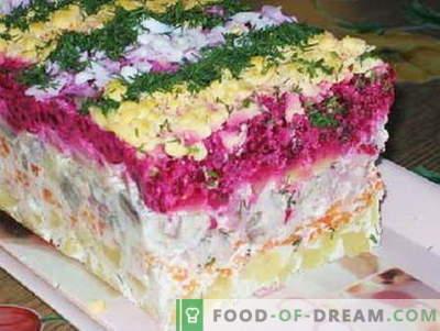 Fur salata - najboljši recepti. Kako pravilno in okusno solatni preliv.