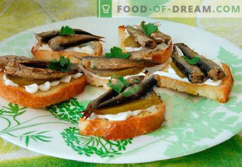 Najboljši recepti so sendviči iz tropin. Kako hitro in okusno kuhamo sendviče s papalinami.