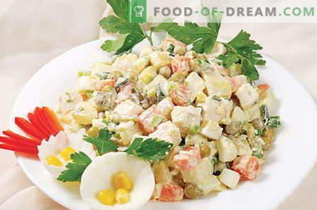 Glavna solata - najboljši recepti. Kako pravilno in slastno kuhamo Kapitalsko solato.