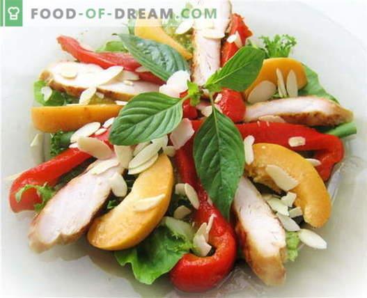 Piščančja solata - najboljši recepti. Kako pravilno in okusno pripraviti solato s piščancem in papriko.