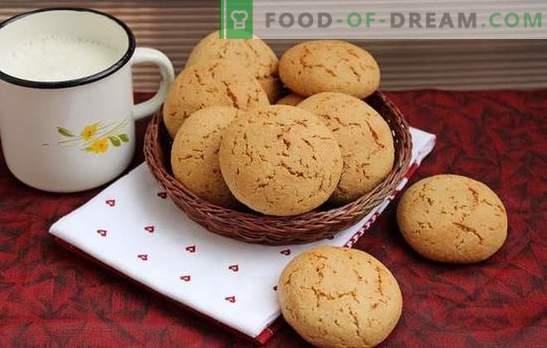 Os cookies de aveia são um deleite caseiro útil. Receitas de biscoitos de aveia com mel, gengibre, canela, casca de laranja