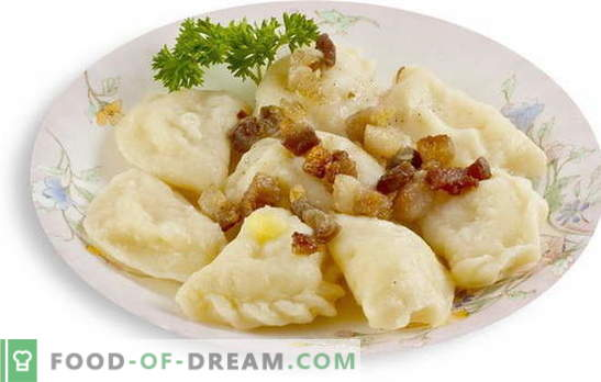 Posteljni cmoki z krompirjem - odlična priložnost, da nahranite družino okusno in zadovoljivo. Recept za postne cmoke z krompirjem