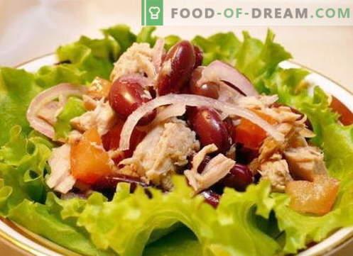 Solata s piščancem in fižolom - najboljši recepti. Kako pravilno in okusno pripraviti solato iz piščanca in fižola.