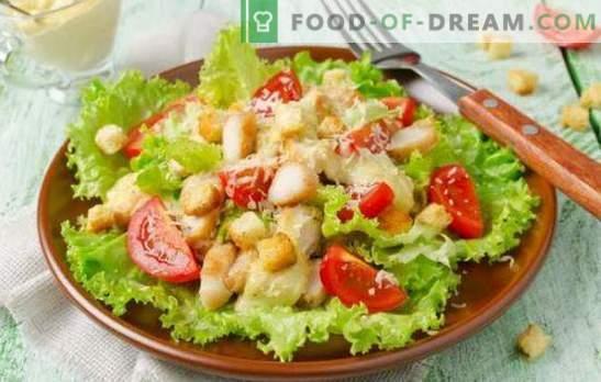 Cezarska solata z majonezo: od preprostih do izvrstnih receptov. Kako pripraviti okusno cezarjevo solato z majonezo
