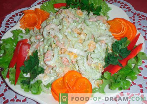 Originalne solate - izbor receptov. Originalne solate za praznično mizo in za vsak dan.