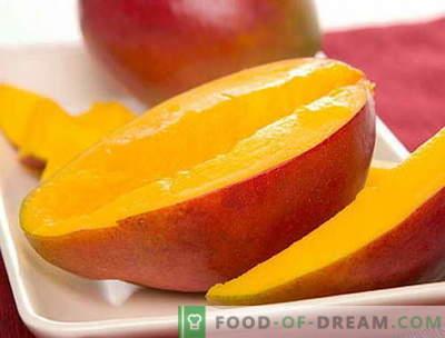 Mango - opis, uporabne lastnosti, uporaba pri kuhanju. Recepti z mangom.