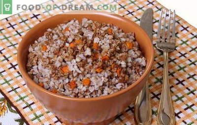 Ajda z korenjem - pametna kaša! Recepti ajde s korenjem in s čebulo, paradižniki, gobami, piščancem, jajci