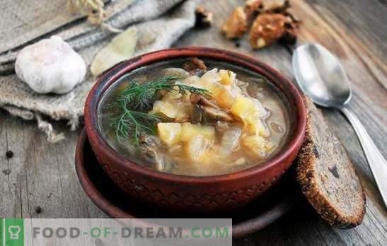 Posna juha - za post in diete so dobre! Najboljši tradicionalni in izvirni recepti puste mesne juhe brez mesa in živalskih maščob