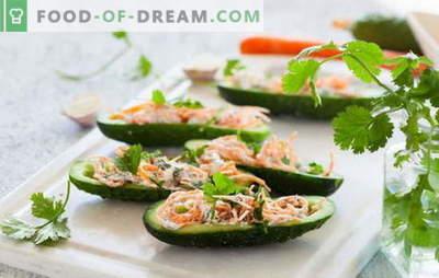 Korejska solata iz korenja in kumarice: pikantna poslastica. Najboljši recepti priljubljene korejske solate iz korenja in kumaric
