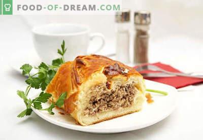 Kulebyaka con carne - las mejores recetas. Cómo cocinar correctamente y sabroso el pastel de carne con carne.