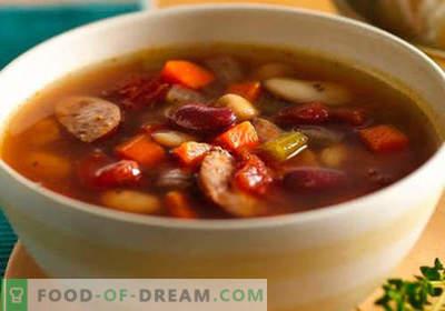 Juha s klobasami - Dokazani recepti. Kako pravilno in okusno kuhati juho s klobaso.