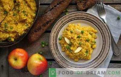 Risotto au carême - Pilaf italien sans viande! Recettes pour risotto maigre aux champignons, légumes, avocats, poires, citrouille