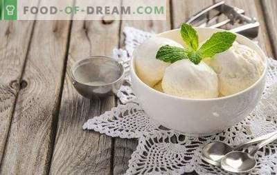 Sladoled iz mleka doma je naraven proizvod! Recepti za okusno sladoled iz mleka doma