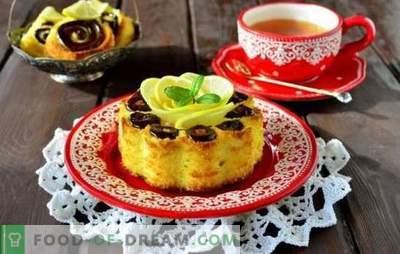 Kako kuhati limonino pecivo v pečici in počasen štedilnik. Razkošja kuhanja limonine gobe torte z impregnacijo, na kefirju, z makovimi semeni