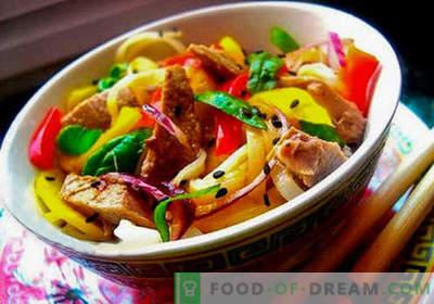 Tajska solata - pet najboljših receptov. Kako pravilno in okusno tajsko solato kuhati.