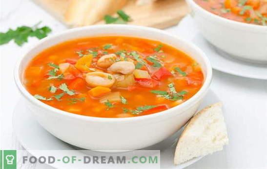 Bean-supp aeglases pliidis ilma probleemideta. Retseptide oadupp kuiva ja konserveeritud oad aeglases pliidis