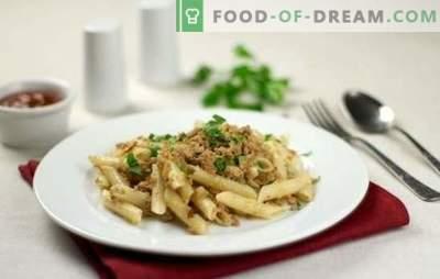 Flea testenine (recept za korak za korakom) - okusen obrok. Step-by-step recept za testenine v klasičnem mornarskem slogu in s paradižnikovimi pastami
