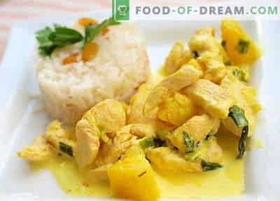 Curry Chicken - najboljši recepti. Kako pravilno in okusno kuhati curry piščanca.