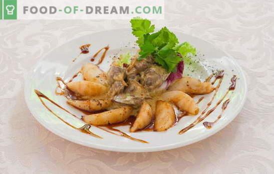 Piščančja jetra v omaki: bešamel, paradižnik, sir. Priložnostni in eksotični načini kuhanja piščančjih jeter v omaki