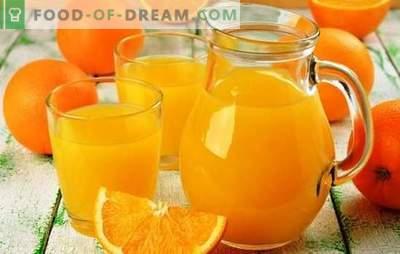Ekonomična možnost za veliko družino: kako narediti 9 litrov soka iz 4 pomaranč. Skrivnosti okusnega poceni soka