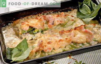 Fileti trske v pečici - preprosti, zdravi in okusni. Najboljši recepti za filete trske v pečici: z zelenjavo, sirom, kislo smetano in pito