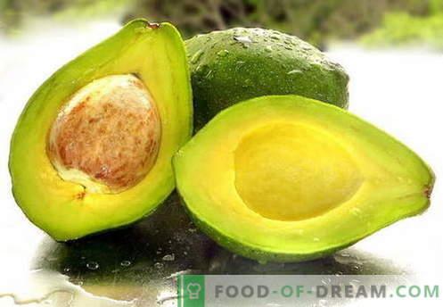 Avokado - uporabne lastnosti, uporaba pri kuhanju. Recepti z avokadom.