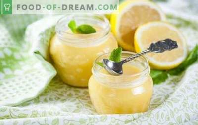 Limonina krema: kompleksni in preprosti recepti. Pravila za pripravo okusne in občutljive limonine smetane po receptih najboljših slaščičarjev