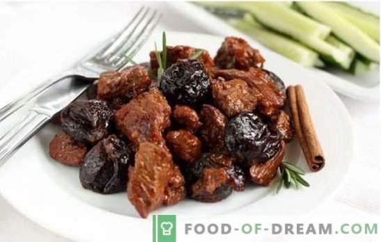 Goveje meso, pečeno in pečeno s slivami: popolna pečenka! Avtorjevi recepti razpisanega govejega mesa s suhimi slivami