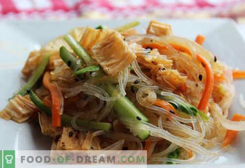 Funchoza z zelenjavo - najboljši recepti. Kako pravilno in okusno kuhati funchozo z zelenjavo doma.