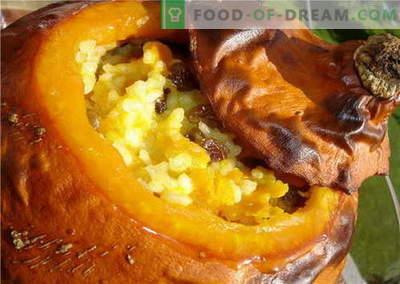 Pečena buča v pečici - najboljši recepti. Kako pravilno in okusno kuhati pečen buče.