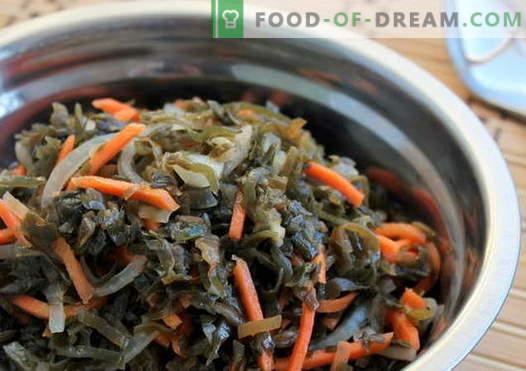 Solata iz morskih alg - najboljši recepti. Kako pravilno in okusno kuhati morske alge solata.