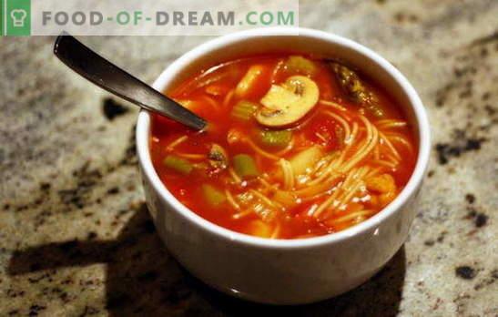 Polnjenje juh: akrobatska okusa z enostavno pripravo. Recepti, ki polnijo juhe z različnimi žitaricami in zelenjavo
