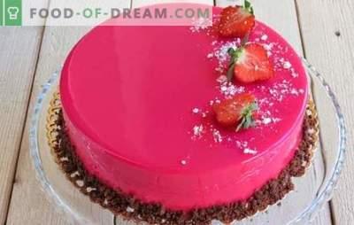 Mousse torta je lepa in neverjetno okusna! Recepti za pecivo z zrcalno glazuro na kondenziranem mleku, s kakavom in čokolado