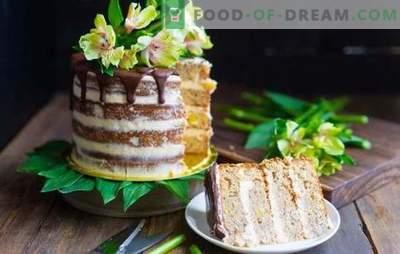Bolo Hummingbird - frutas sortidas e biscoitos suculentos. Uma seleção de bolos
