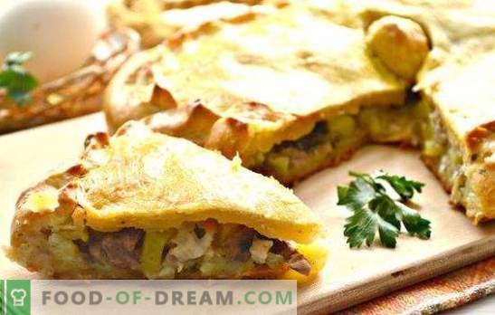 Piščančji kurnik s krompirjem: korak za korakom za rusko pito. Kako kuhati piščančjega piščanca s krompirjem (recepti po korakih)