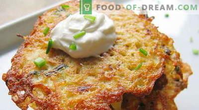 Krompirjeve palačinke - najboljši recepti. Kako pravilno in okusno kuhati krompirjeve palačinke.