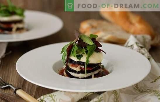 Baklažanai Parmedzhano - italų Sveiki! Žymių Parmedzhano baklažanų daržovių ir mėsos receptai